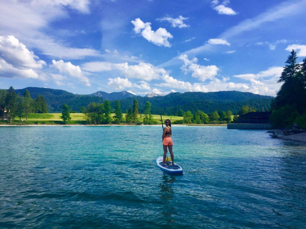 Stand up Paddling auf dem Walchensee