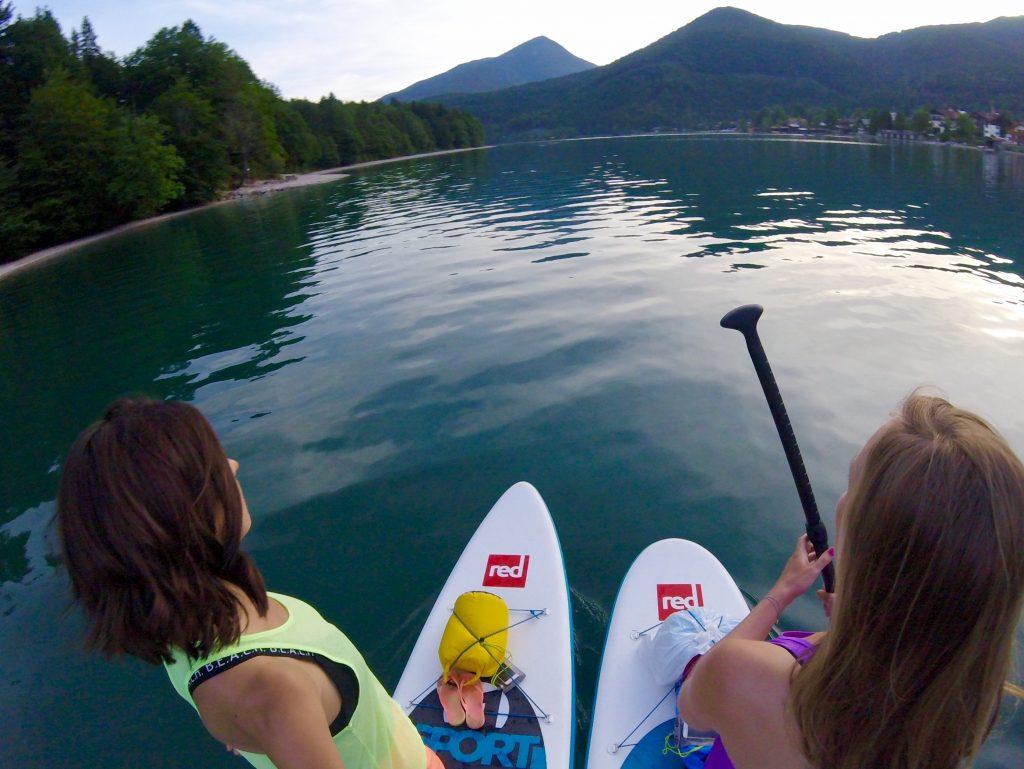 SUP Tour auf dem Walchensee