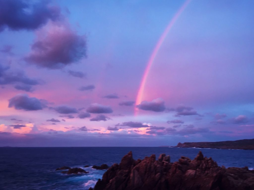 Sardinien Sonnenuntergang Regenbogen