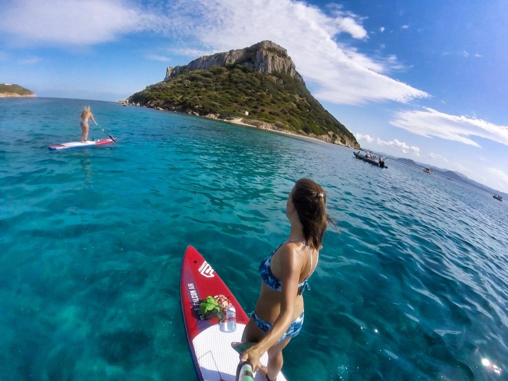 Stand Up Paddling Sardinien