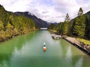 Standup Paddling Spot Plansee auf dem Heiterwanger See Tirol