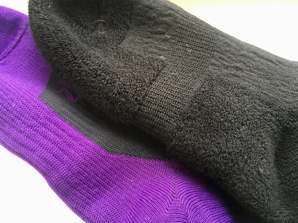 Wasserdichte Socken von innen