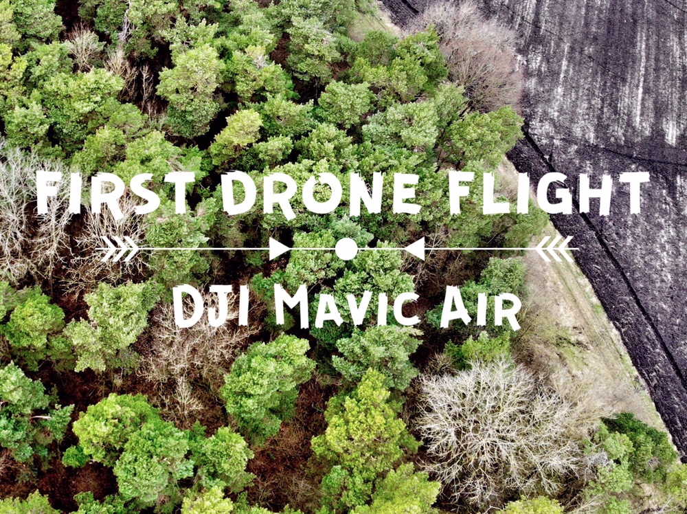 First drone flight mavic air header