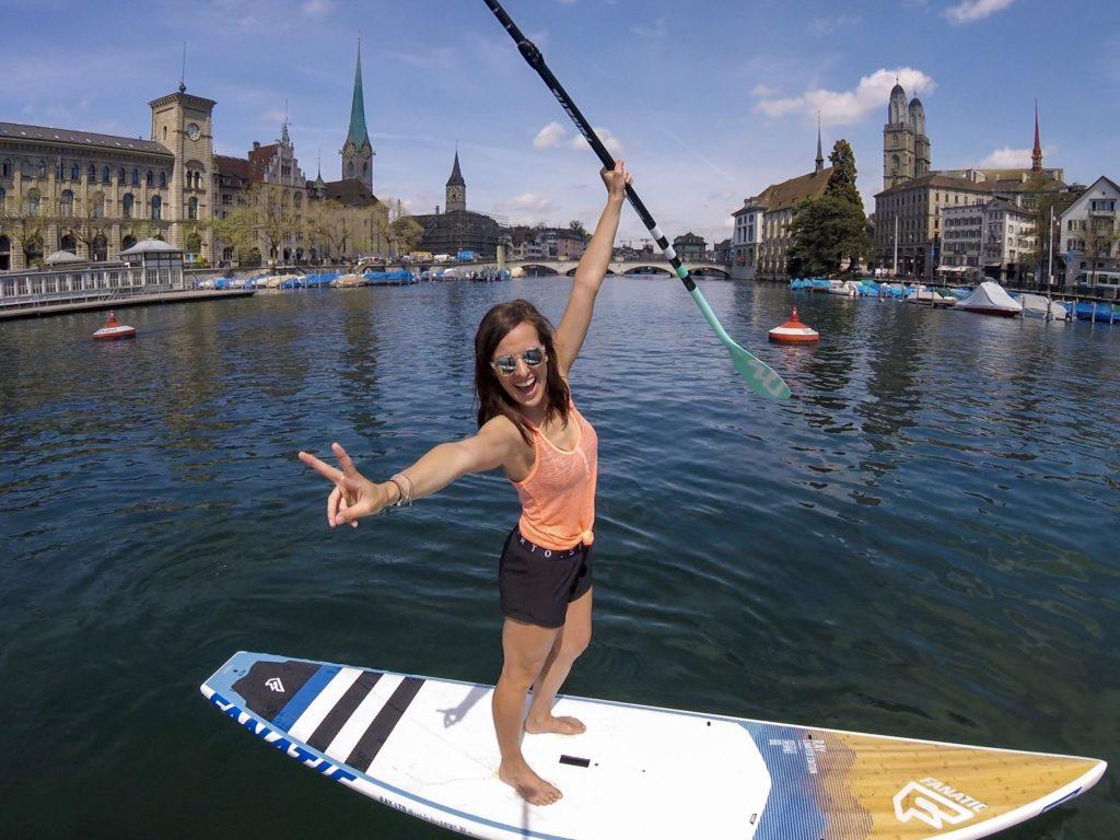 City SUPen auf dem Zürich See